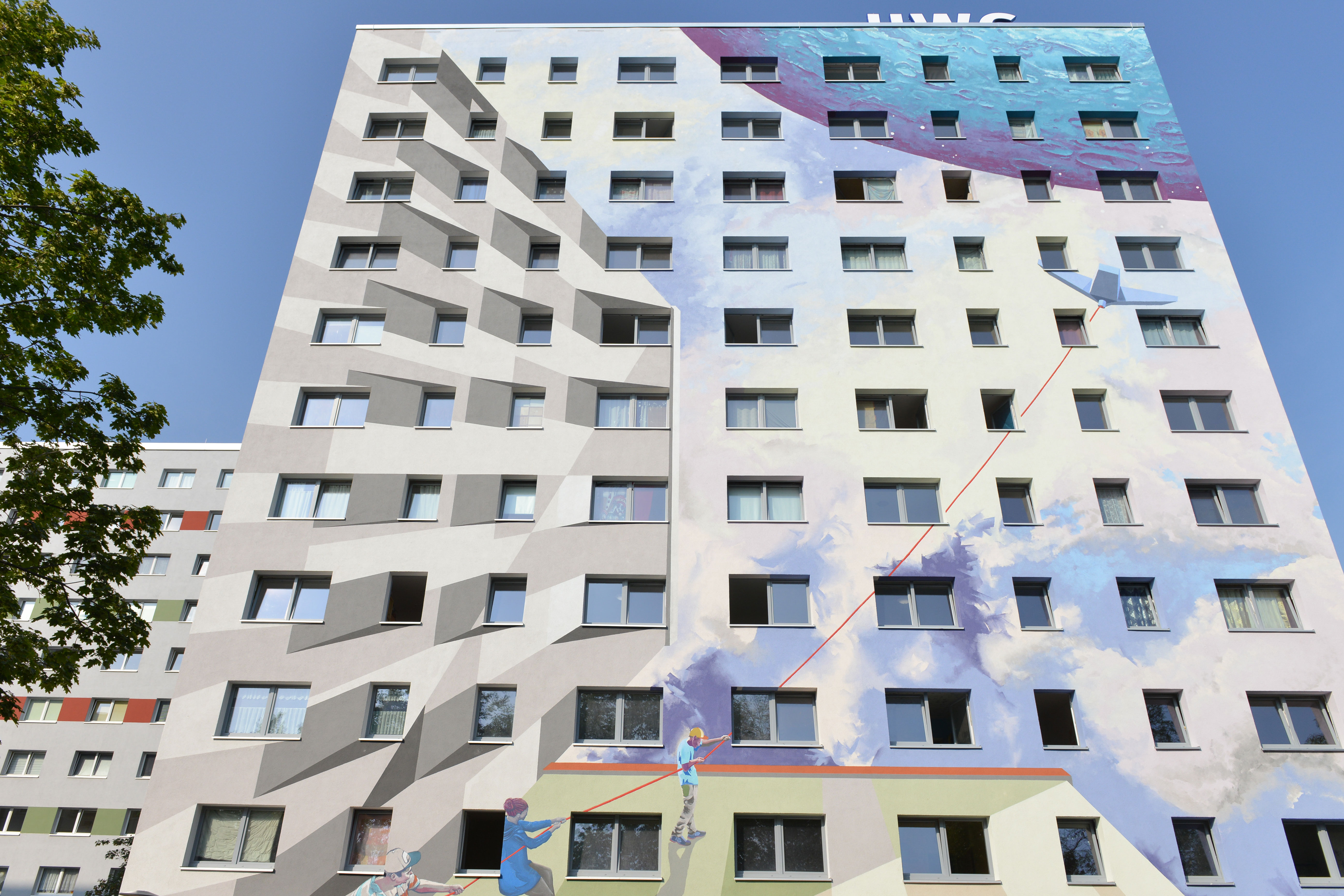 Fassadenkunst nah Vossstrasse