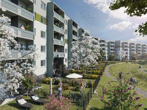 Visualisierung Kreuzerhof mit Mietergärten